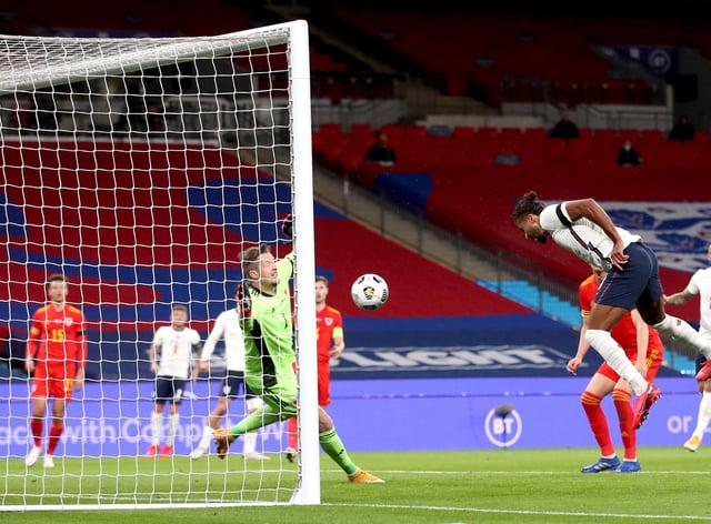 Dominic Calvert-Lewin scored England's opening goal on his debut