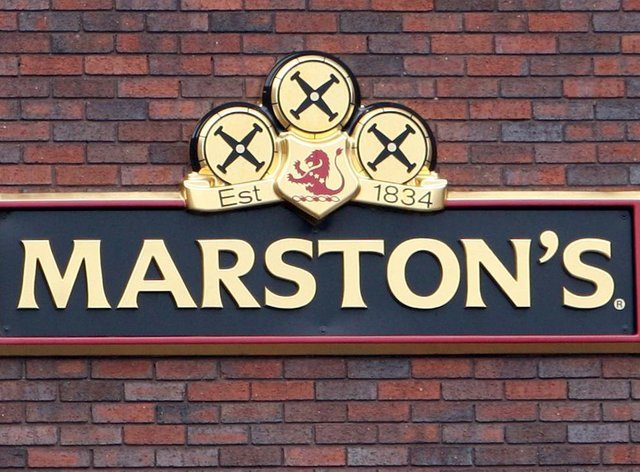 A Marston's brewery sign