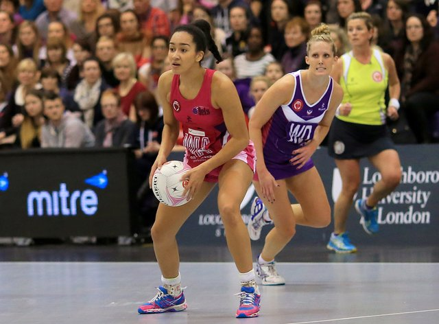 Brie Grierson (left) has signed for her hometown club Leeds Rhinos Netball