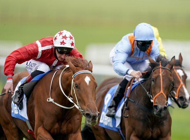 Saffron Beach (left) showed a very willing attitude at Newmarket