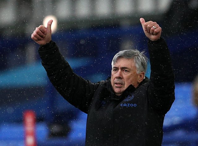 Carlo Ancelotti is Everton's first manager of the month in seven years