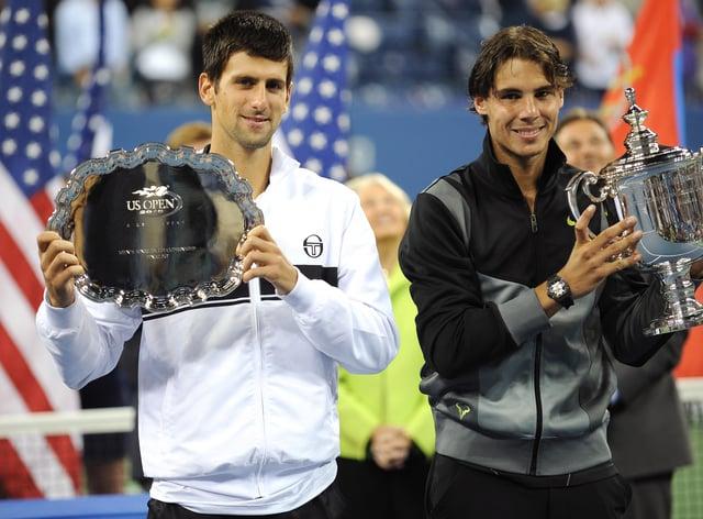 Novak Djokovic, left, and Rafael Nadal