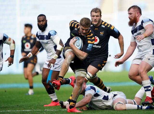 Wasps flanker Jack Willis scored a try against Bristol