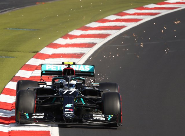 Valtteri Bottas beat Mercedes team-mate Lewis Hamilton to pole position