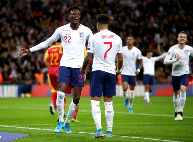 Tammy Abraham (left) and Jadon Sancho are back in contention for England