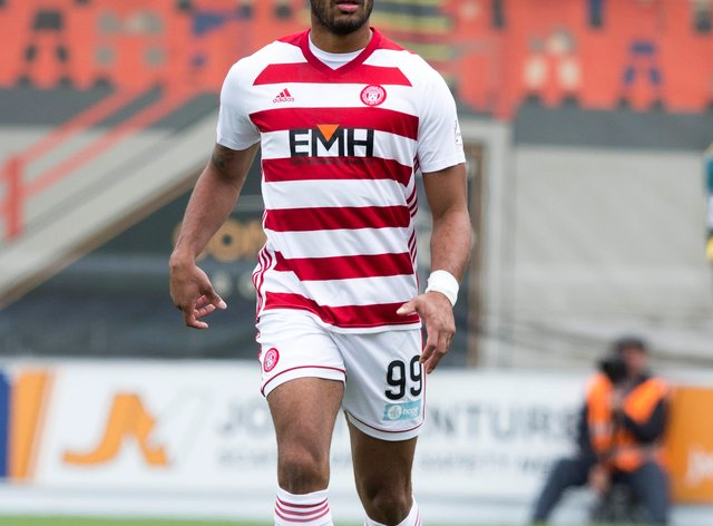 Marios Ogkmpoe was on target for Hamilton
