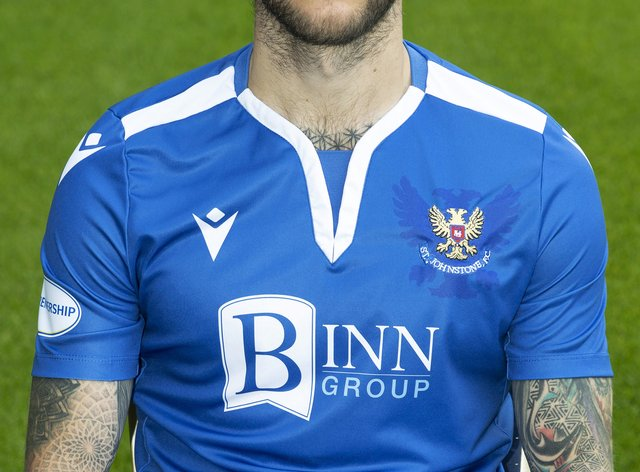 Stevie May had a lively game for St Johnstone
