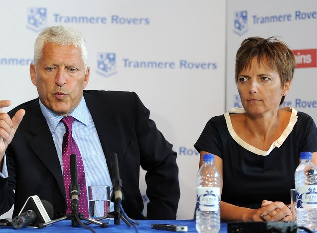 Tranmere chairman Mark Palios and his wife Nicola praised the efforts of the depleted Tranmere squad in battling to a draw against the odds at Salford