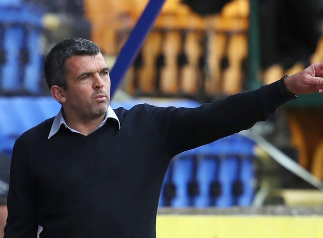 Callum Davidson saw his side rack up the goals