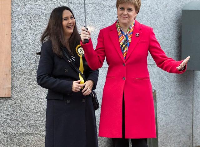 Nicola Sturgeon with Margaret Ferrier