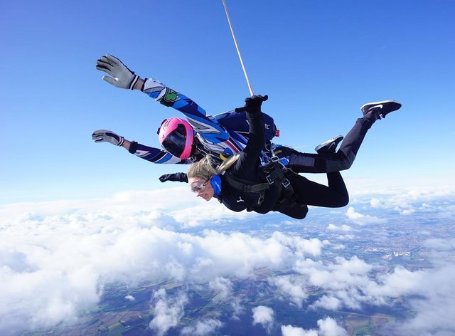 Laura Heath manages a smileas she conquers her fear of heights to raise money for an anti-bullying charity