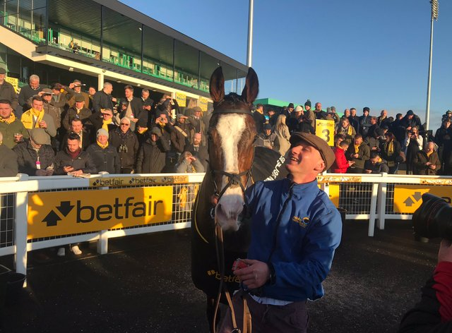 Cornerstone Lad poses for the cameras at Newcastle