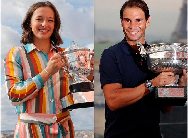 Iga Swiatek and Rafael Nadal won the French Open title this weekend (