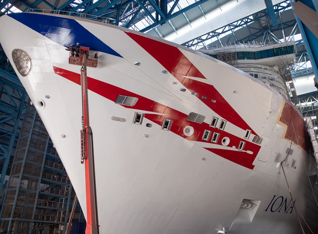 P&O Cruises has taken delivery of the largest cruise ship built for the UK market (P&O Cruises/PA)