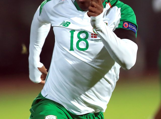 Michael Obafemi is on Republic of Ireland Under-21s duty in Italy