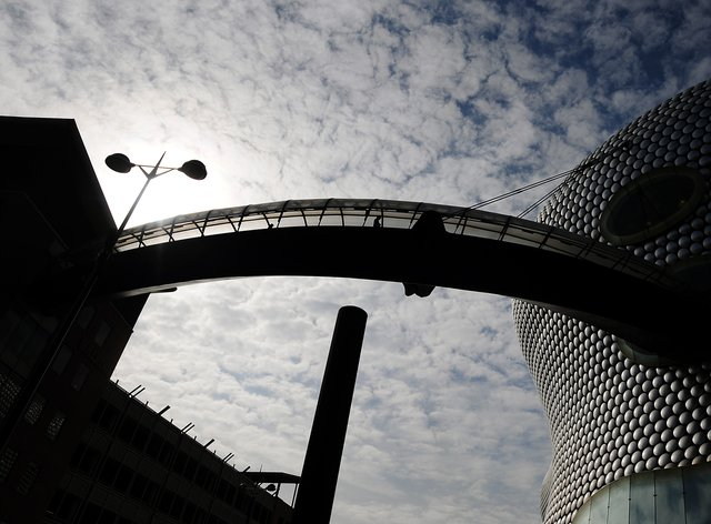 General view of bridge linking the car park to the Bullring shopping complex in Birmingham (Rui Vieira/PA)