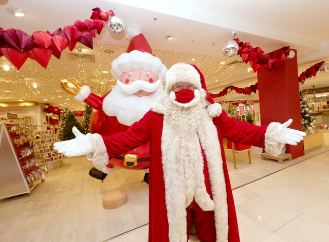 Father Christmas at the launch of the Selfridges Christmas shop