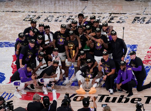The Los Angeles Lakers won their 17th NBA title