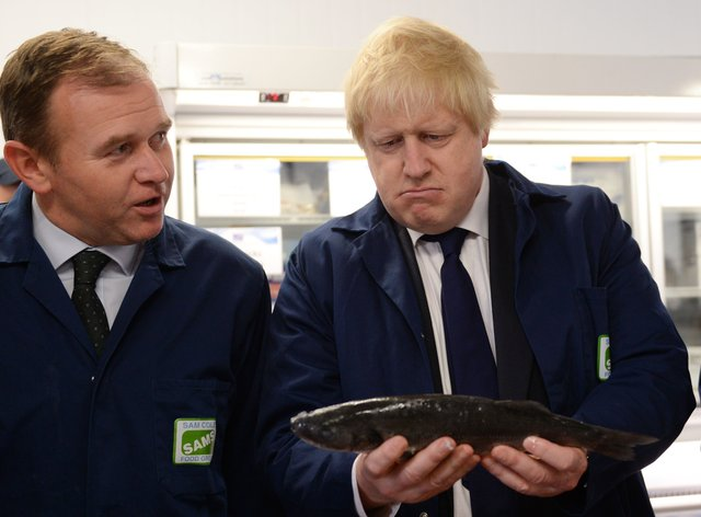 George Eustice and Boris Johnson