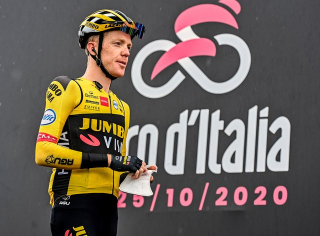 Steven Kruijswijk was one of two riders to test positive for coronavirus during the rest day