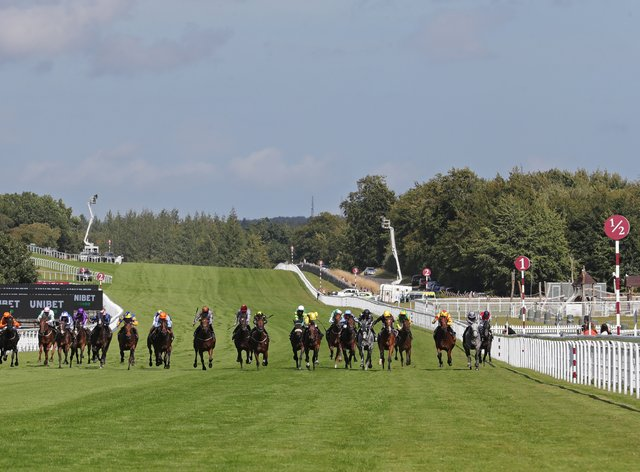Runners and riders in action at Goodwood