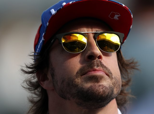 Fernando Alonso took part in a private test for Renault on Tuesday