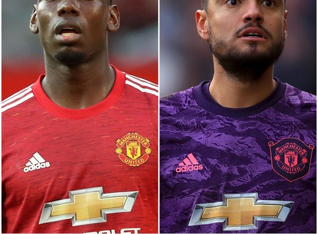 Paul Pogba and Sergio Romero