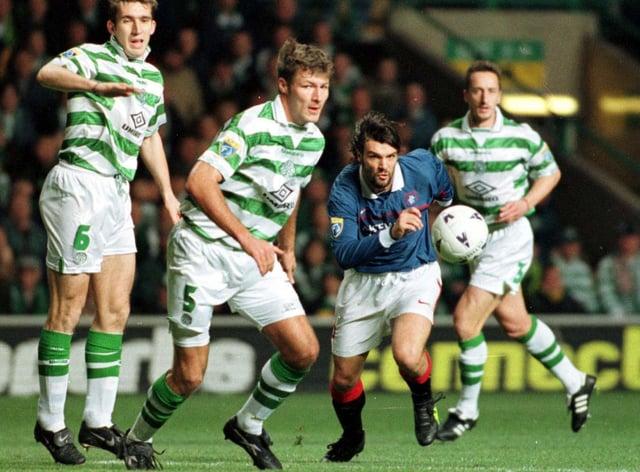 Former Rangers striker Marco Negri in action against Celtic