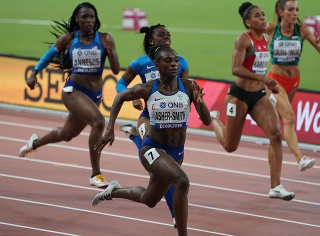 Dina Asher-Smith said she was 'relieved' by Tokyo 2020 postponement