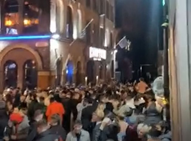 Crowds in Liverpool