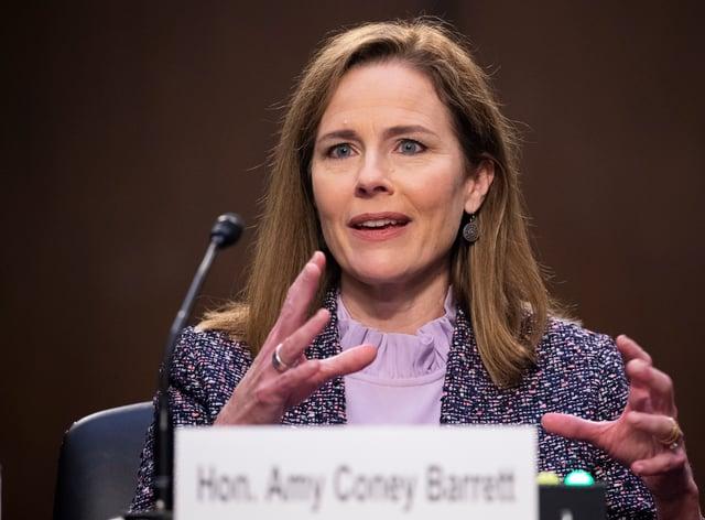 Supreme Court nominee Amy Coney Barrett (Michael Reynolds/AP)
