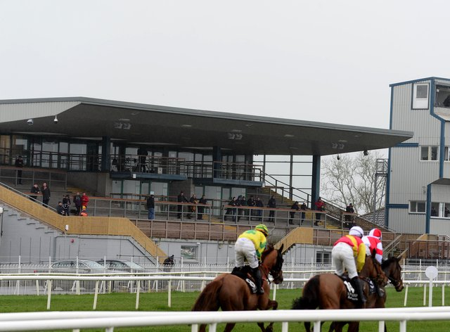 Runners and riders at Down Royal racecourse