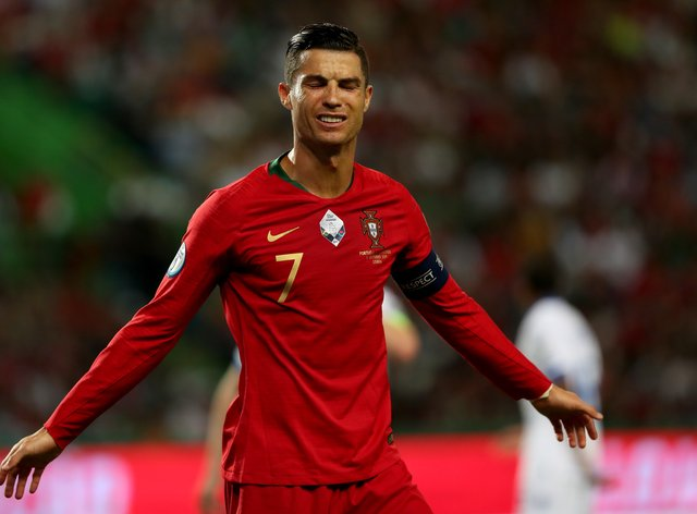 Ronaldo tested positive for coronavirus on Tuesday