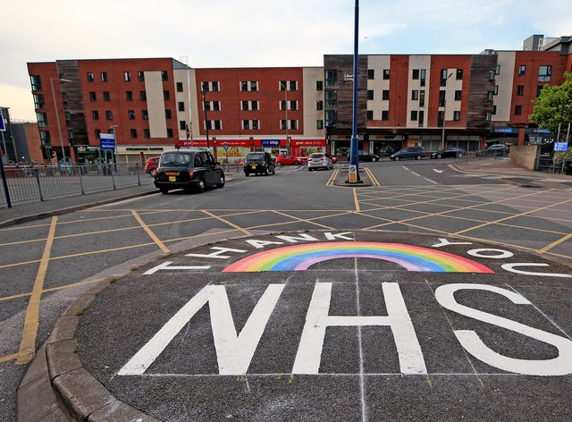 Thank-you NHS sign