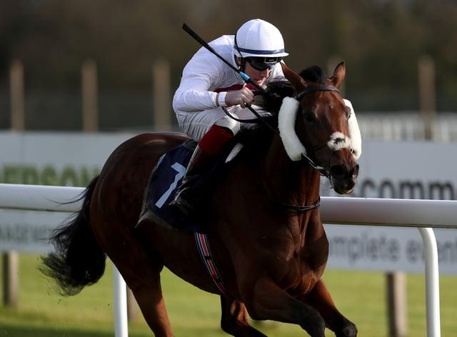 David Egan and Traisha gallop to victory in the British Stallion Studs EBF Beckford Stakes at Bath
