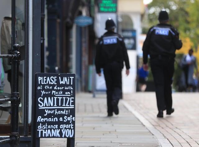 A shop sign in Nottingham city centre (Mike Egerton/PA)