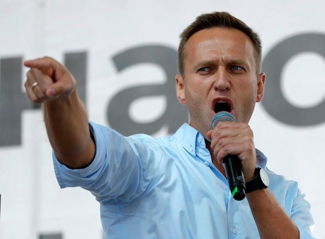 Russian opposition activist Alexei Navalny (Pavel Golovkin/AP)