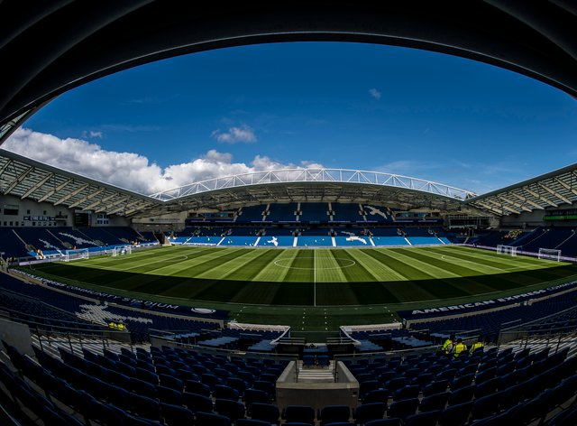 Brighton have not seen fans at a competitive home match since February