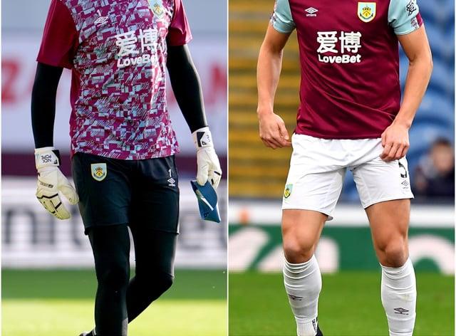 Burnley duo Nick Pope and James Tarkowski