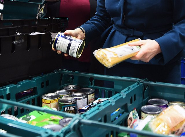 The coronavirus crisis has sparked a huge increase in people using food banks for essential supplies