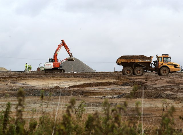 Work on the lorry park near the M20 in Kent