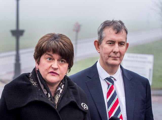DUP leader Arlene Foster and Edwin Poots