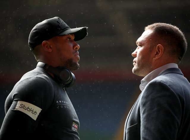 Anthony Joshua (left) and Kubrat Pulev are finally set to face each other in the ring