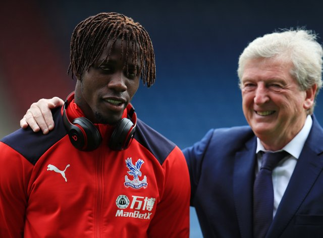Roy Hodgson has always maintained an open dialogue with Wilfried Zaha