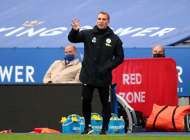 Brendan Rodgers' Leicester host Aston Villa on Sunday (Marc Atkins/PA).