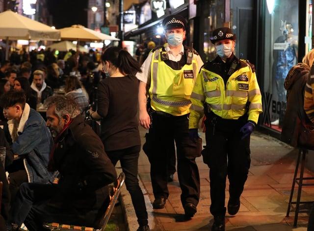 Police monitor social gatherings