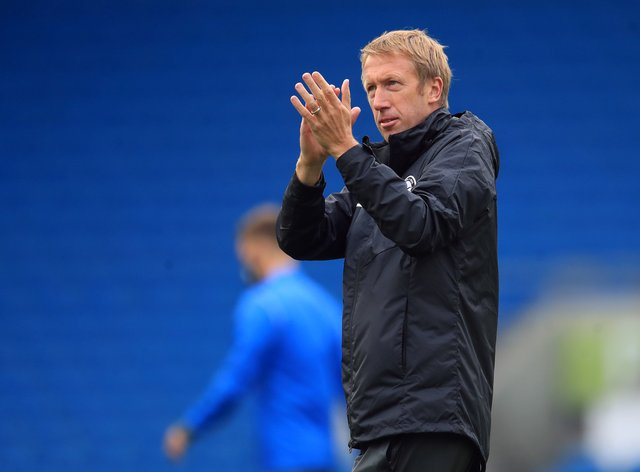 Brighton boss Graham Potter is preparing for a derby clash with Crystal Palace