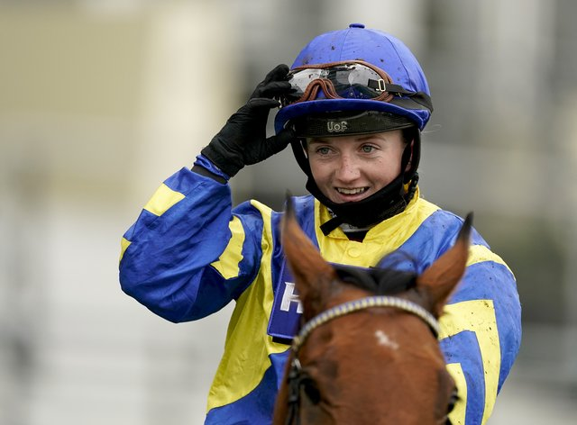 Trueshan and Hollie Doyle after winning the Qipco British Champions Long Distance Cup at Ascot