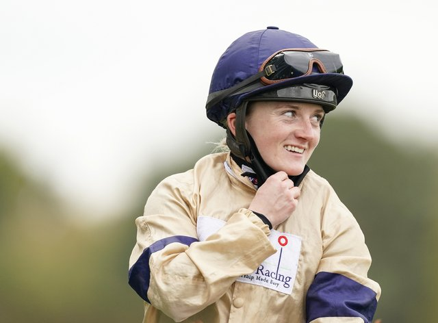 Glen Shiel and Hollie Doyle after winning the Qipco British Champions Sprint Stakes at Ascot
