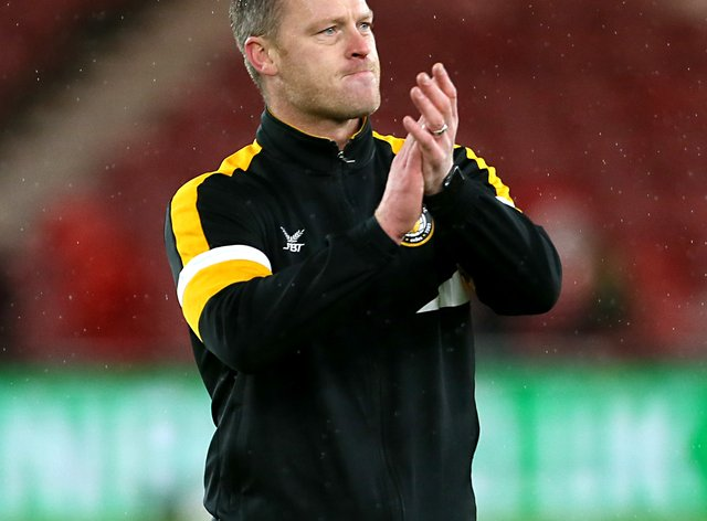 Newport manager Michael Flynn turned 40 on Saturday